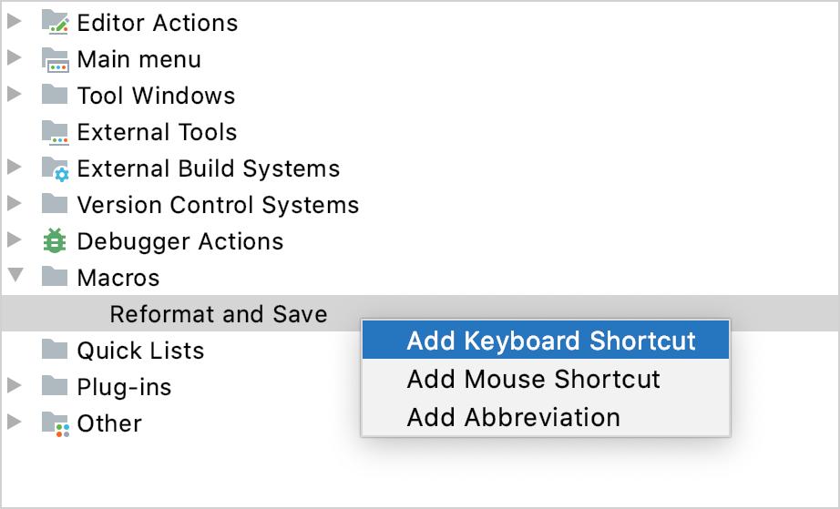 Add Keyboard Shortcut
