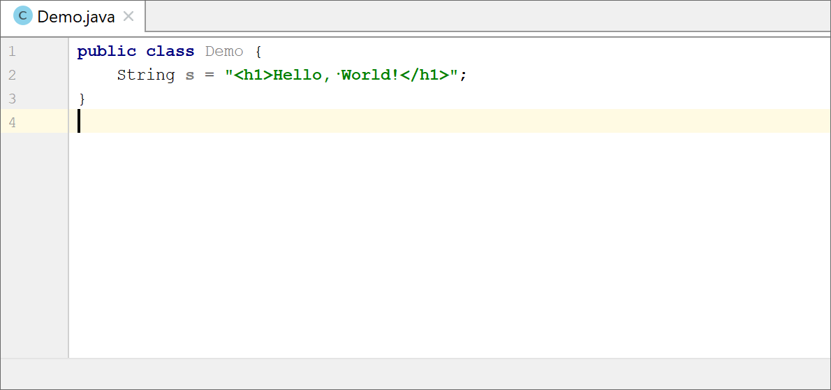 Using prefixes and suffixes in language injection