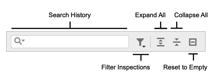 Inspections toolbar
