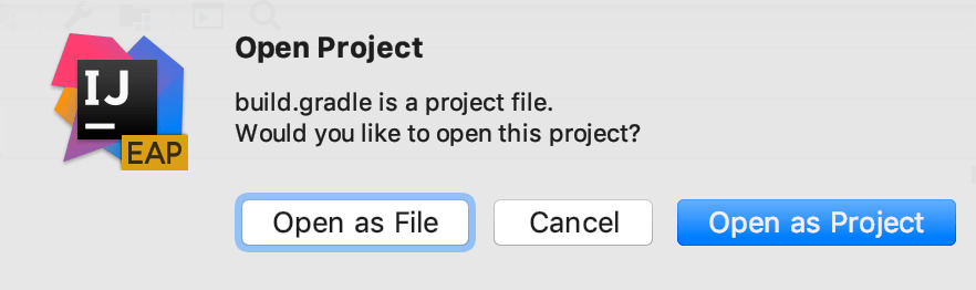 Open Project dialog