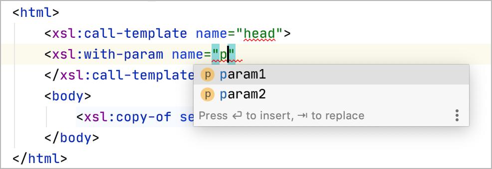 Parameter Completion