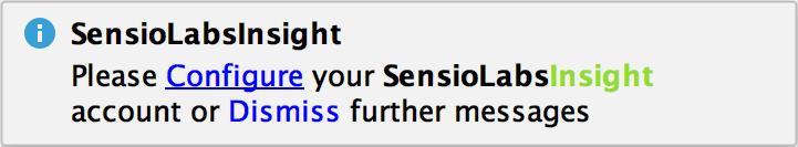 SensioLabsInsight plugin notification