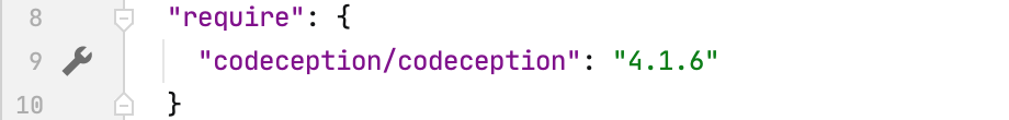Gutter icon for codeception settings in composer.json