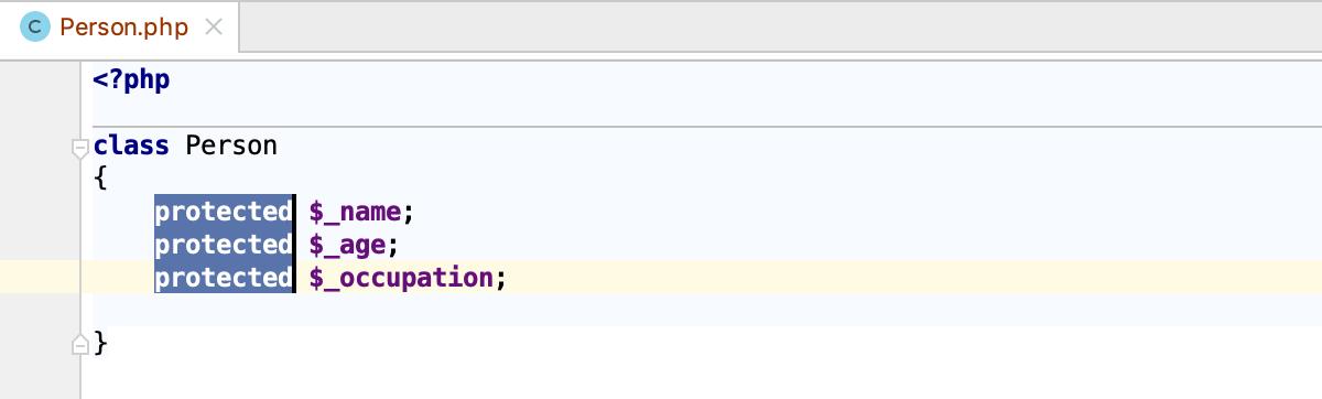 PhpStorm: Select multiple text fragments