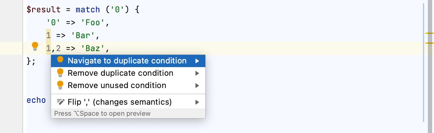 Adding a default match