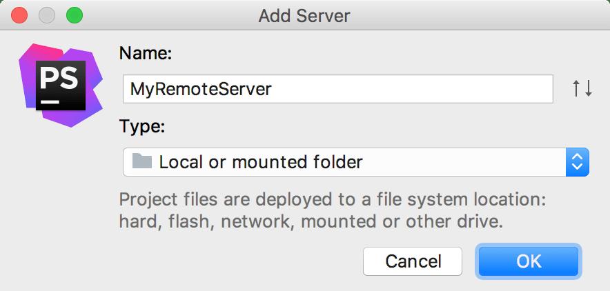 Add server dialog