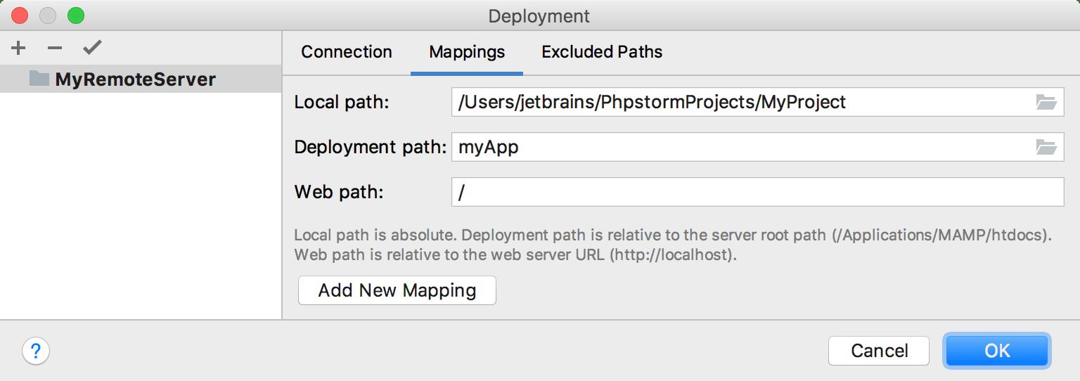 Deployment Mapping Tab
