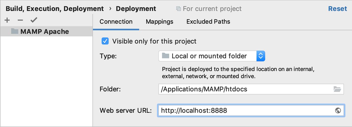 MAMP server configured