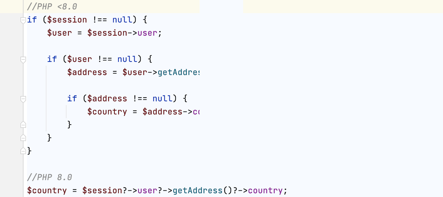 Using the nullsafe operator