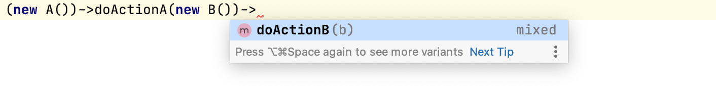 Method return type overridden