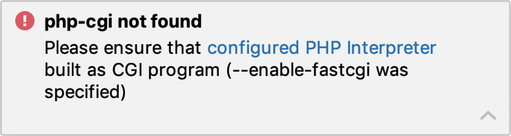 php-cgi not found error notification
