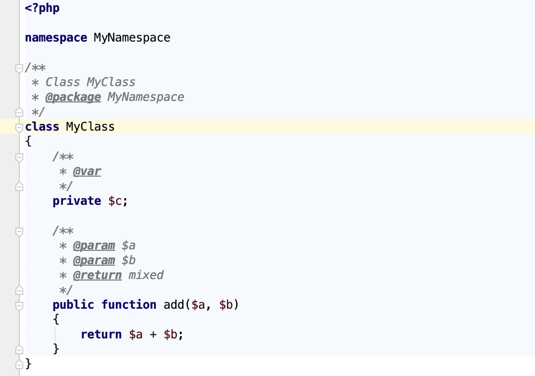 Generate PHPDoc