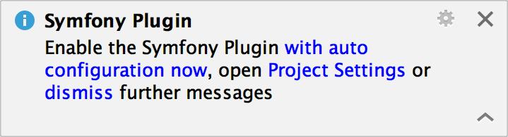 Symfony plugin notification