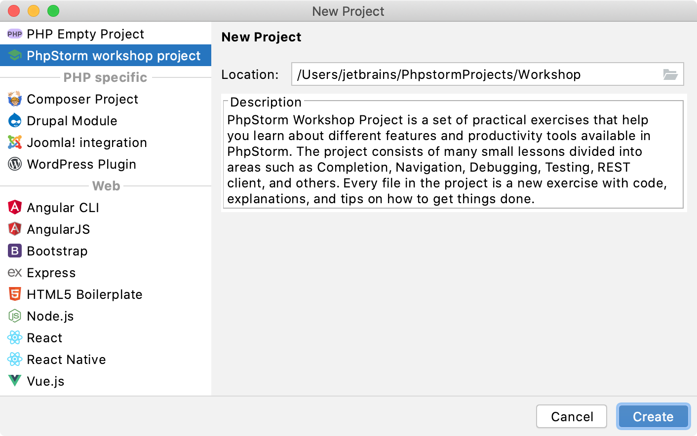 Create workshop project from New Project dialog.png