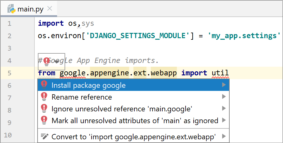 quick fixes for the missing packages