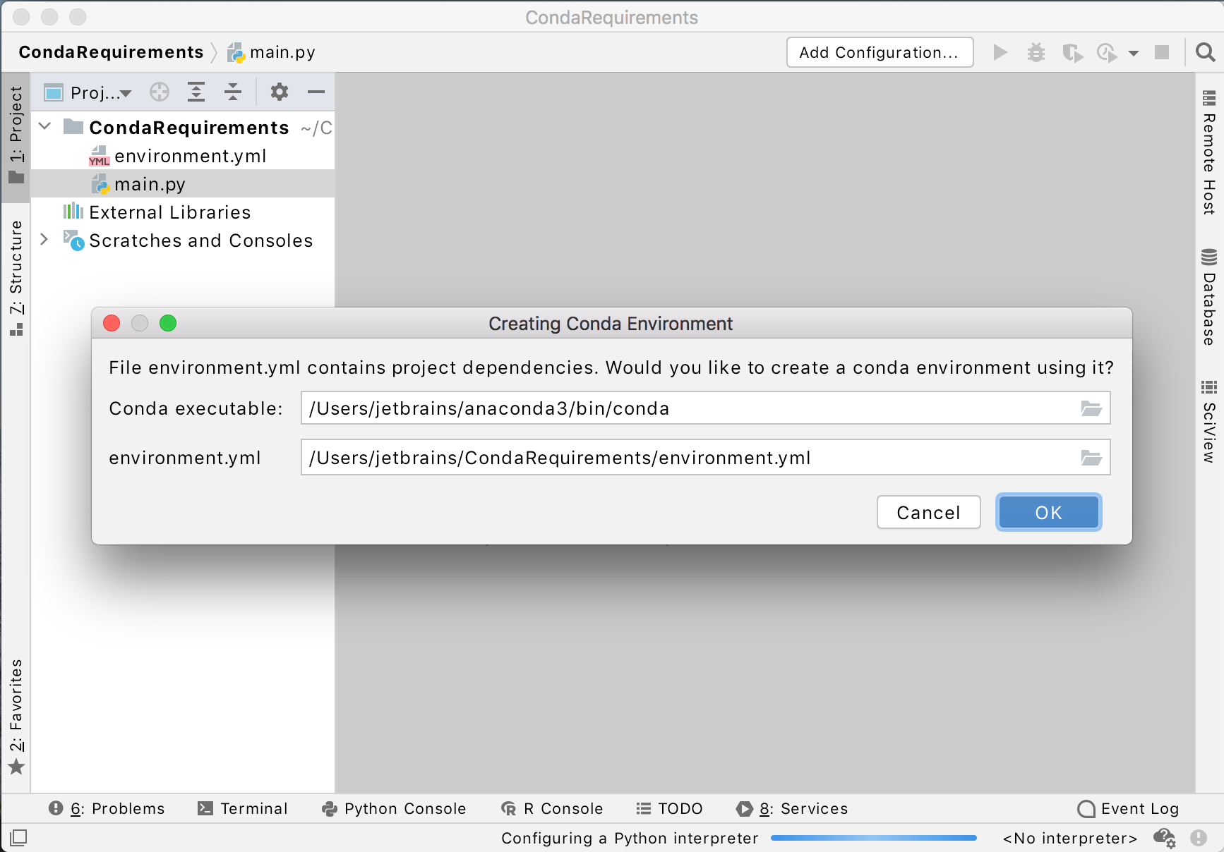 Create a Conda environment using the requirements.txt file