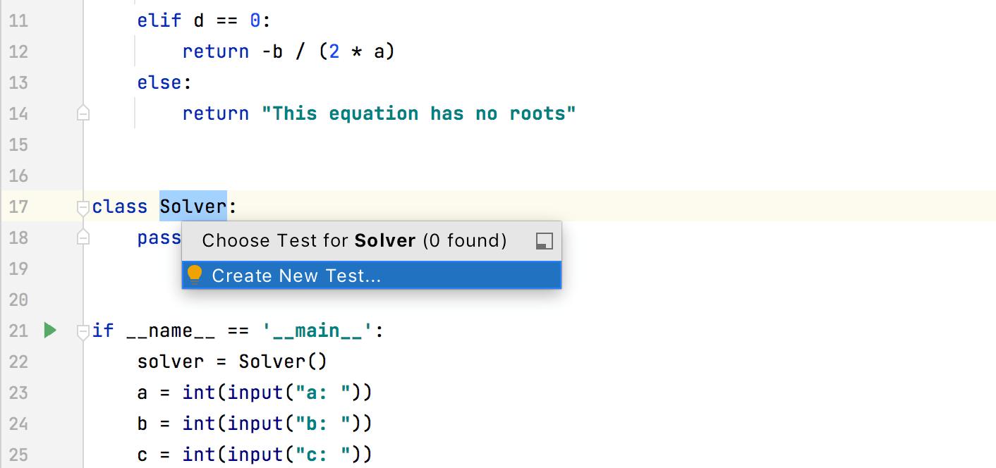 Create a test