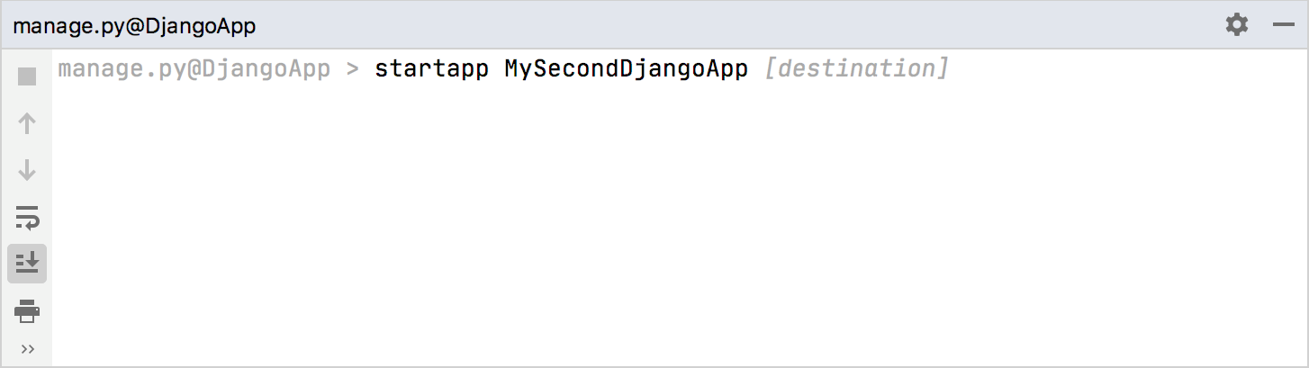 Adding a new Django application to the project