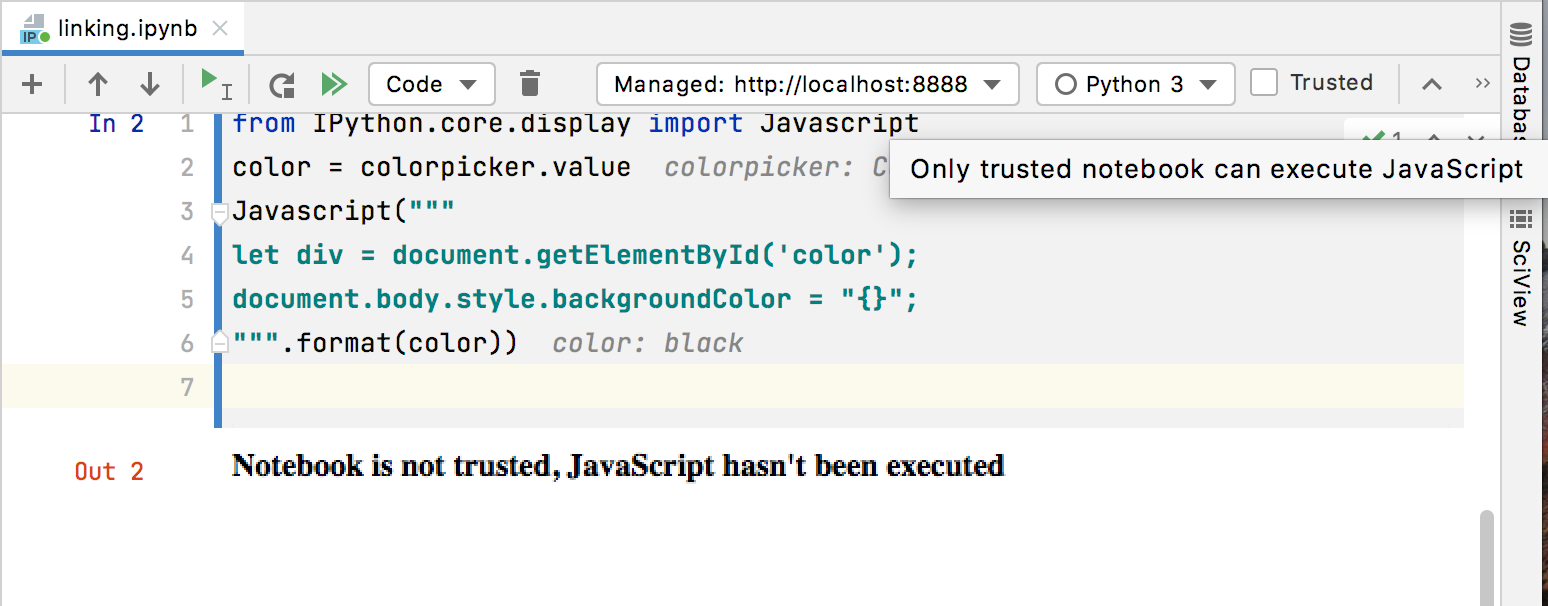 Making the JavScript code trusted
