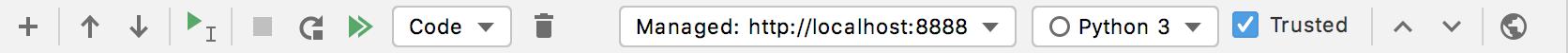 Jupyter toolbar
