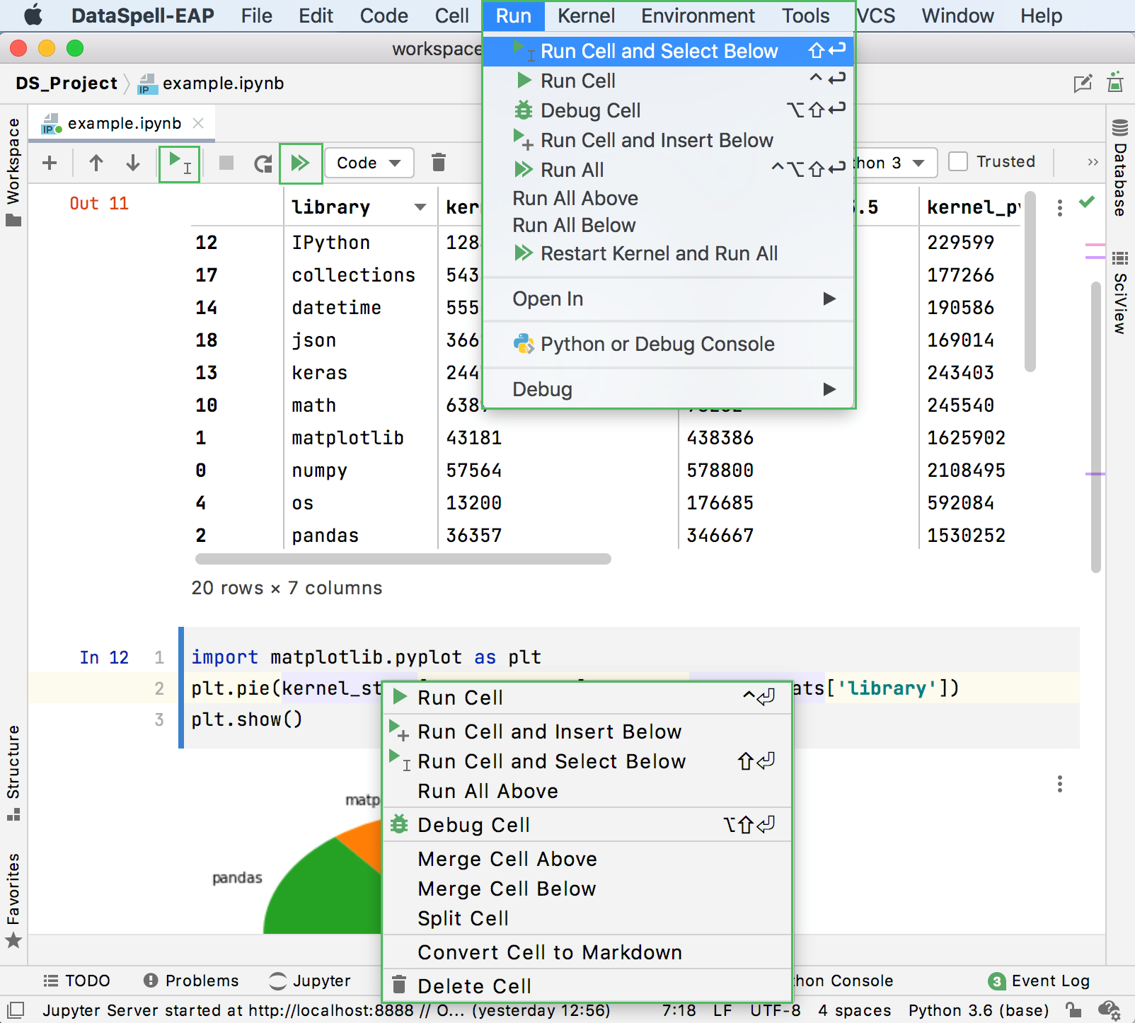 How to execute code cells in PyCharm