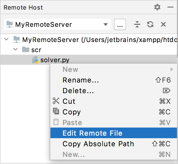 Edit file on remote host