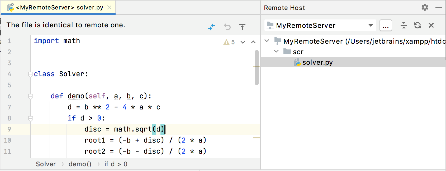 Editing a file on remote host