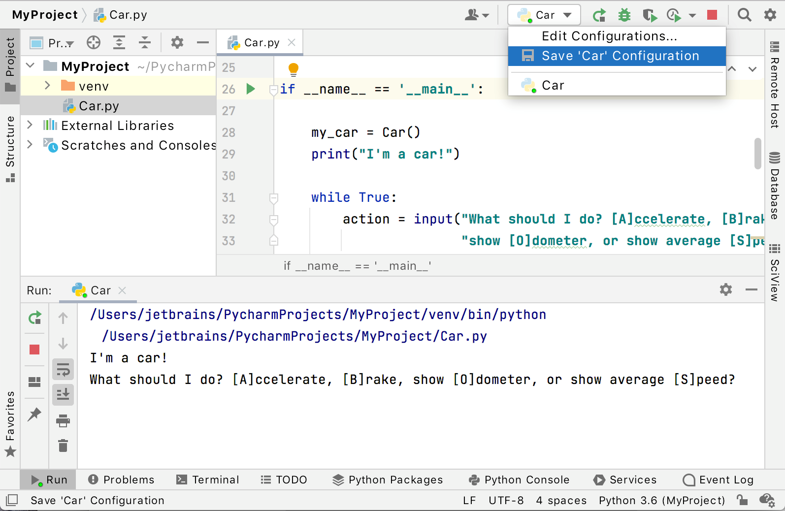 Edit Run/Debug configuration
