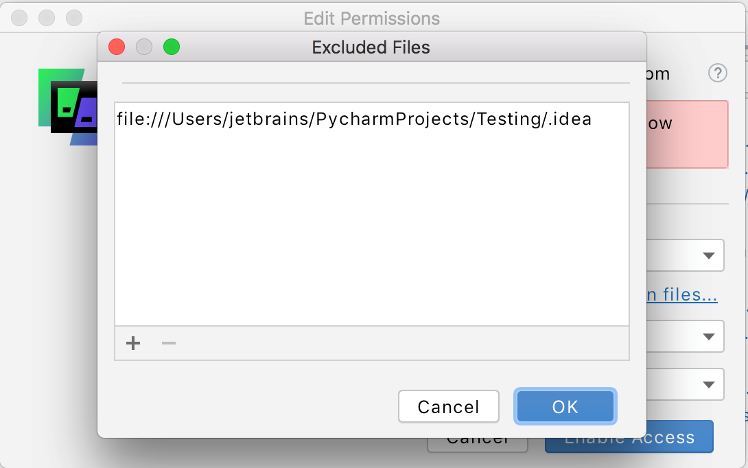 Exclude files