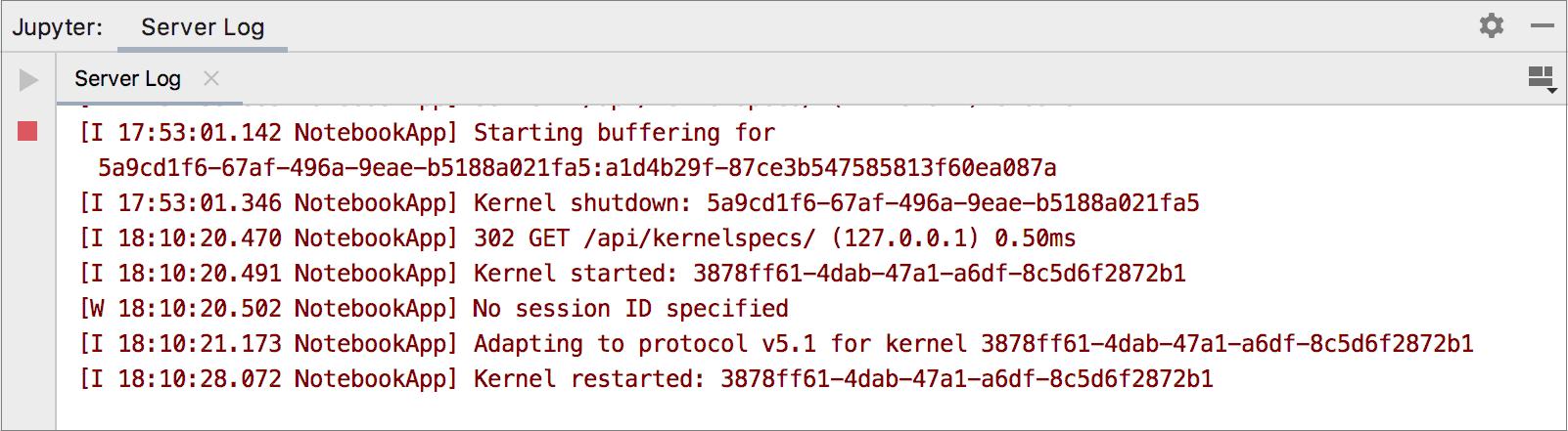 Restarting the current kernel