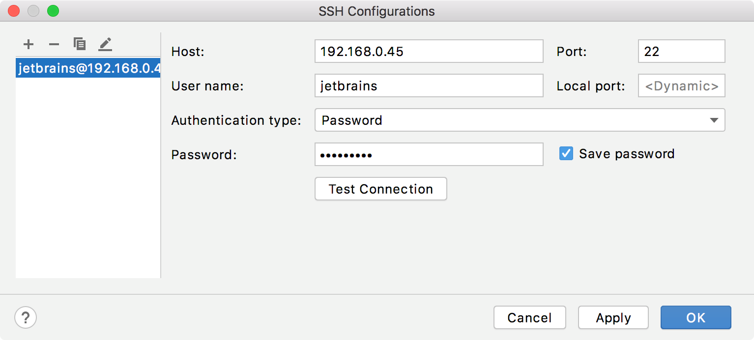 New SSH configuration