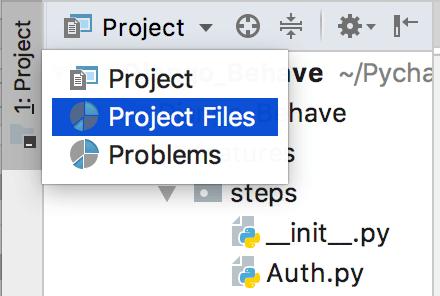 project tool window views