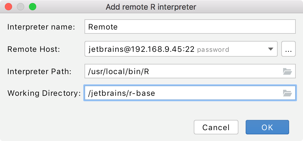 Adding a path to the remote interpreter