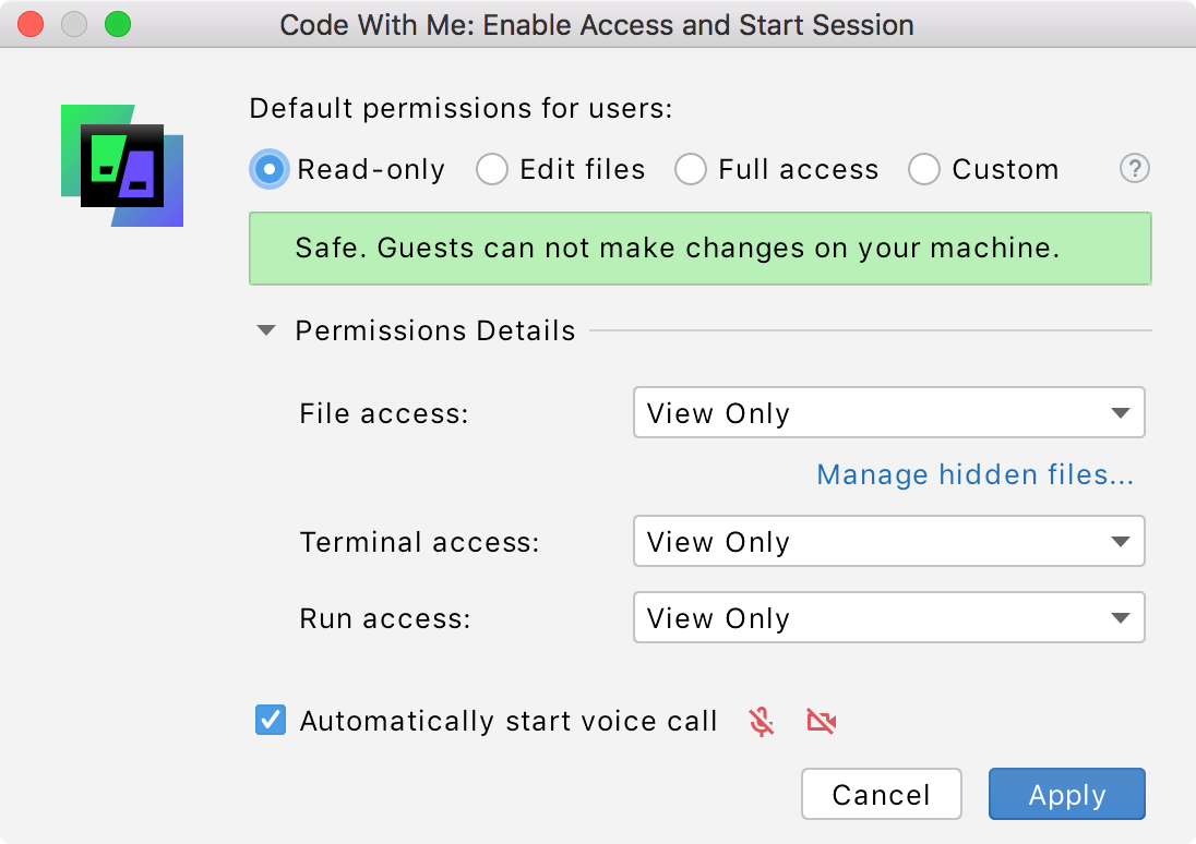 Read only permissions