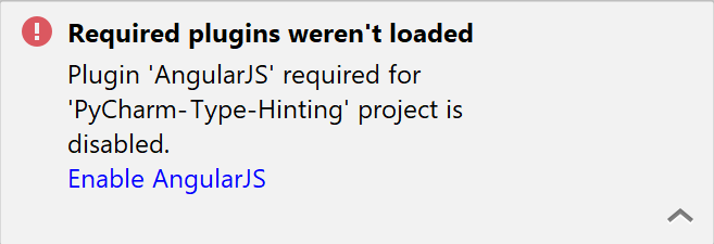 Required plugin is disabled