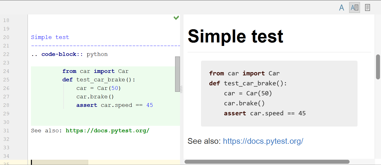 Highlighting Python syntax in the code block