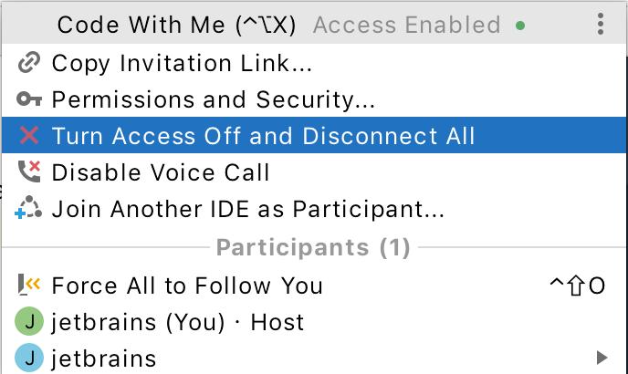 Turn Off Access