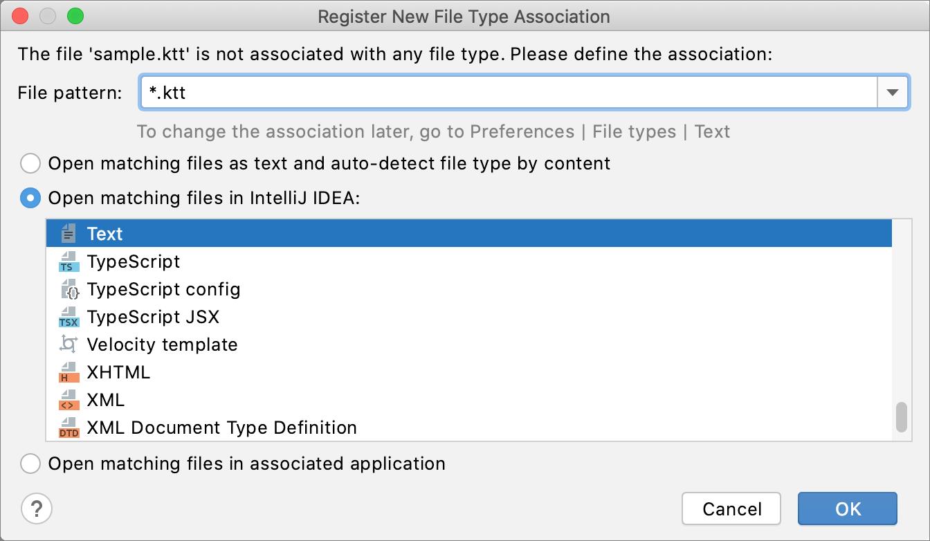 Register new file type