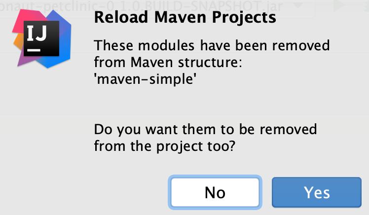 Reload Maven project