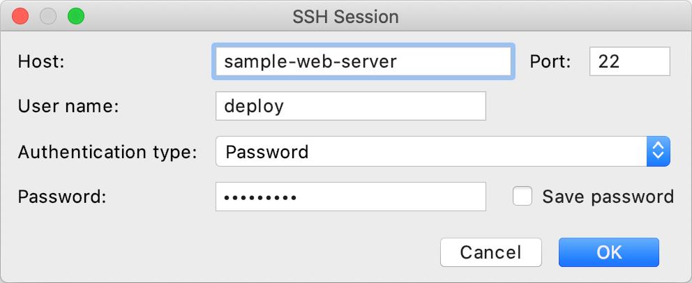 SSH session