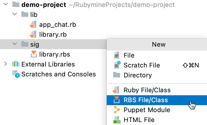 Create a new RBS file