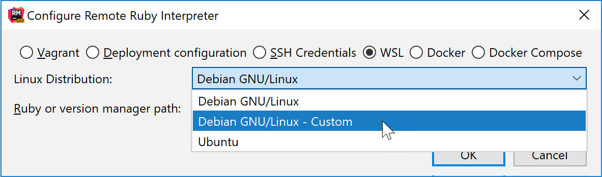 Configure Remote Ruby Interpreter