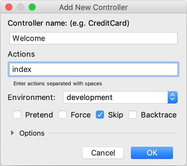 Add New Controller