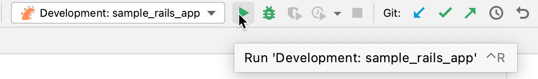 Run selected configuration