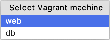 Select Vagrant machine