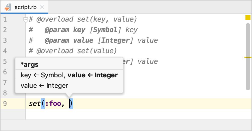 Parameter info
