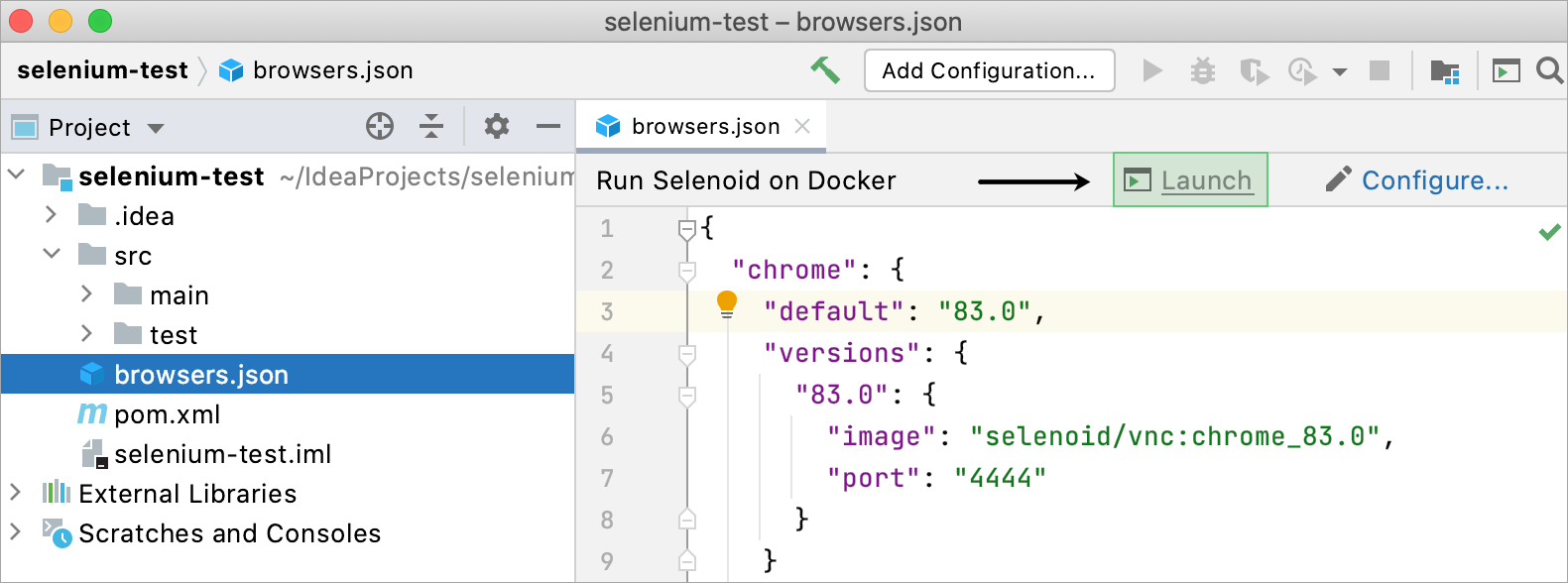Running Selenoid on Docker