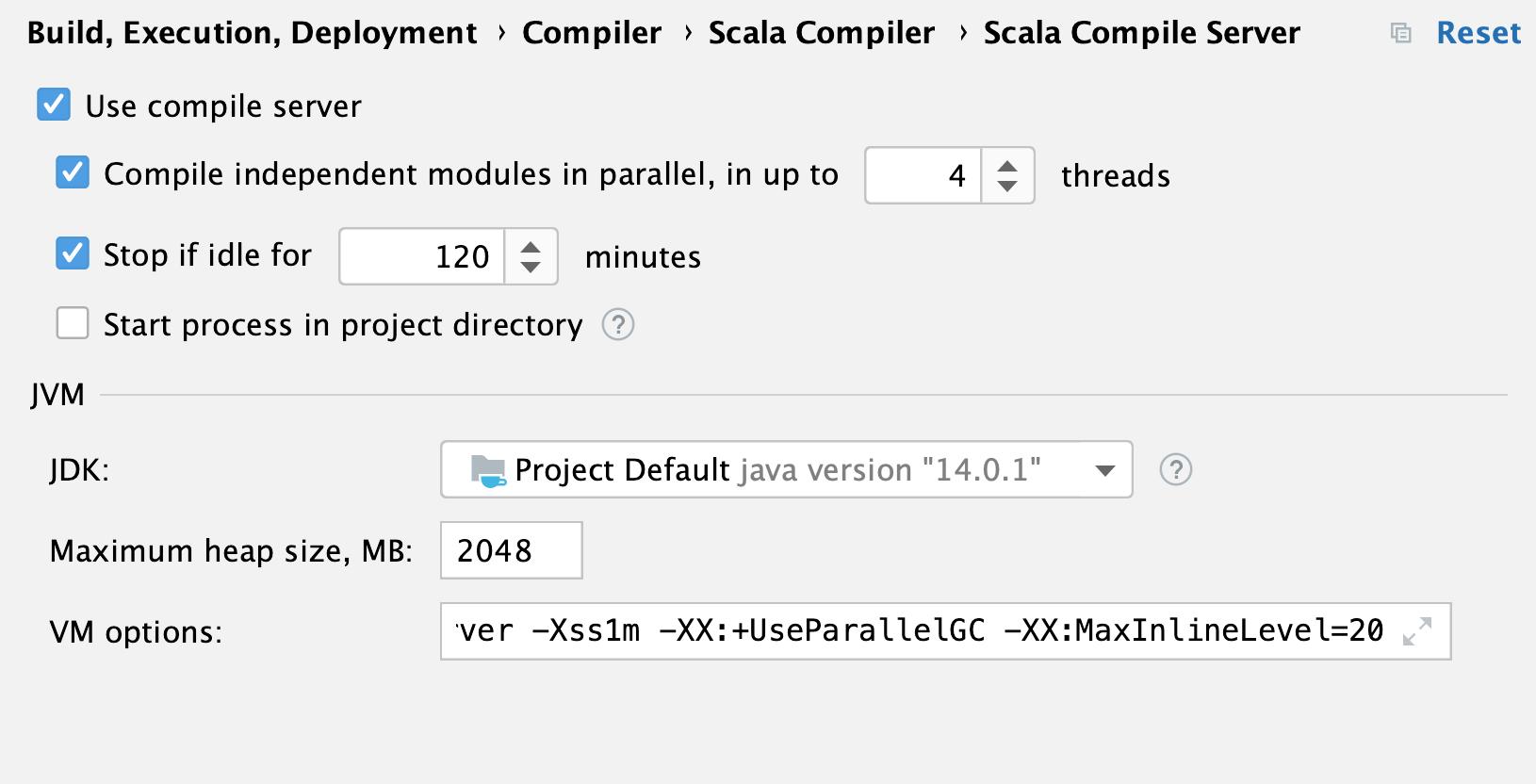 Scala compiler server