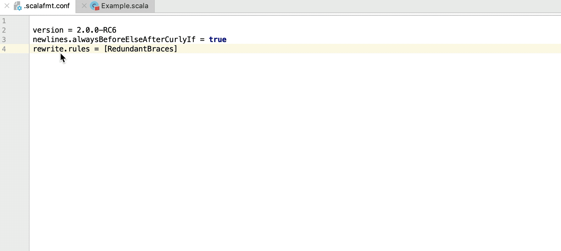Reformat Scala code