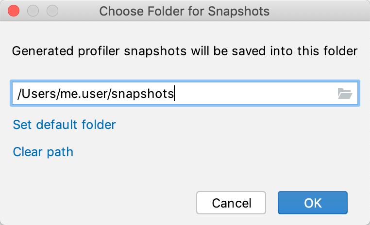 Set snapshots folder 2
